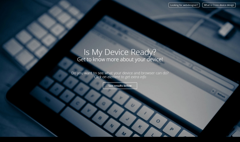 Is my device ready?