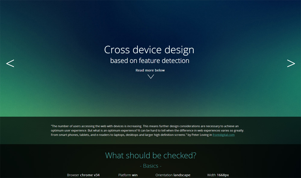 Cross Device Design