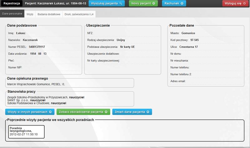 Kartoteka pacjentów - karta pacjenta widziana oczami pielęgniarki